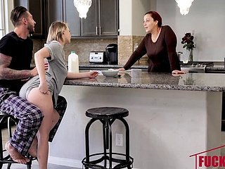 Cara May In Stepdaughter Bang Mesh Bre