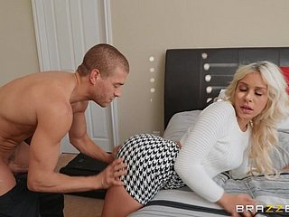 Blonde Carmen Caliente moves her clothes be worthwhile for a pine added to strong penis