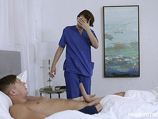 Titillating Natalie Porkman ramming a fat friend's penis till such time as she cum