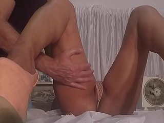 Married Brazilian Wife Seduce Masseur with Sexy Transparent Lingerie