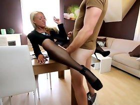 Pantyhose anal smoking ejecutive
