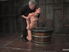 cutie enjoying some water bdsm with an increment of domination
