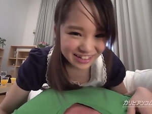 Little sister Cherish Sucking a Chubby Bushwa - Risa Oomomo