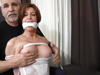 milf directed down together with gagged