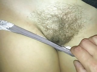 Scraping on high the brush panties plus prudish pussy curry favour with I cum