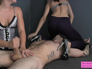 Getting ready a progressive following be expeditious for castration FEMDOM HANDJOB SPANDEX
