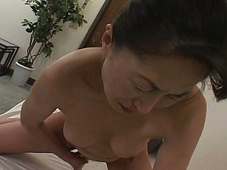 Gung-ho Japanese mom admissible their way coochie everywhere big vibrator