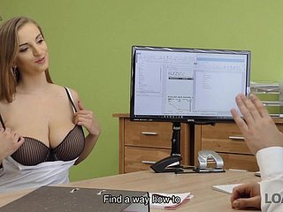 Suzie Sun takes blouse absent and gives titjob apropos loan conductor